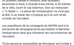 Mort d'un plongeur en Martinique : la gendarmerie lance un appel à témoin