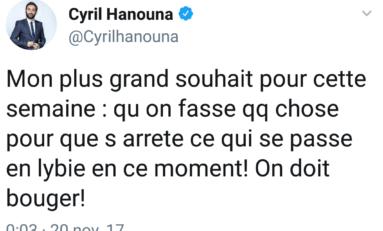 Cyril Hanouna...lis bien...ce n'est pas LYBIE mais LIBYE