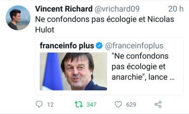 Le tweet du jour 19/04/18 Nicolas Hulot - Écologie