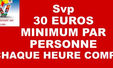 10 jours - 10 euros...OUPS...euh...10 jours - 30 euros...
