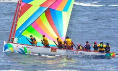 Tour de la Martinique des Yoles Rondes : Ay Douvan...quand le sans sponsor sort du lot sur l'eau