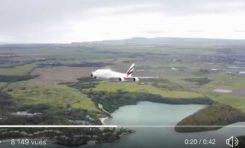 Il filme un A380 au décollage avec un drone... (vidéo)... il est fou