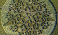 Etrange dessin apparu dans un champ en Angleterre (vidéo)