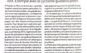 En Guadeloupe, le cyclisme ne roule pas qu'à l'eau