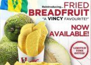 KFC lance les frites de fruit-à-pain à Saint-Vincent