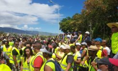 Île de La Réunion...les gilets jaunes inventent le Gillot jaune