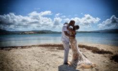 Melissa et Clyde, deux originaires du New Jersey, sont venus célébrer leur mariage à l'îlet Oscar en Martinique