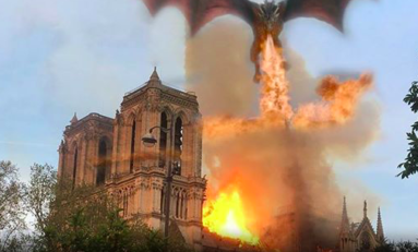 L'image du jour 15/04/19 - Game of Thrones /Notre Dame de Paris