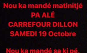 Martinique : boycott de Carrefour Dillon Ce samedi ...ça te dit ?
