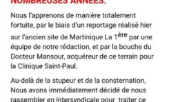 """Incendie à """"RFO"""" à Clairière en Martinique"""