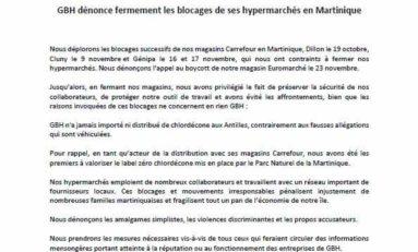 Antoine Crozat a t-il rédigé le communiqué de GBH en Martinique ?