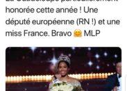 Marine Le Pen adore Miss France 2020