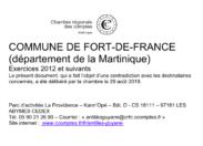 Chambre Régional des Comptes/Fort-de-France ...les données d'un rapport visqueux non consenti caca...