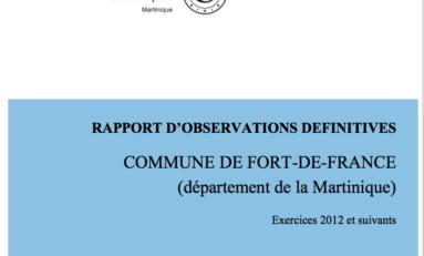 """""""J'ai lu le Rapport de la Chambre Régionale des Comptes sur la situation financière de Fort-de-France...j'aurai mieux fait d'être illettré"""""""