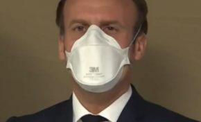 Peu noir et masque blanc