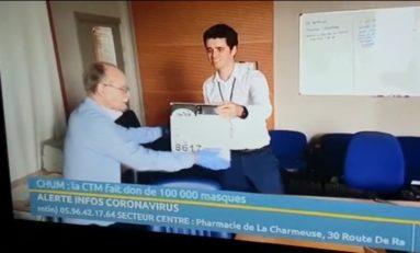 100000 masques pour le CHUM : Alfred joue au Saint... Bernard