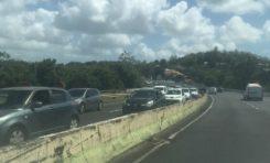 Les embouteillages sont de retour en Martinique