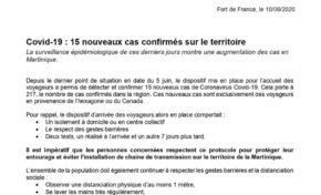 Epidémie Covid-19 : Fermez l'aéroport du Lamentin !