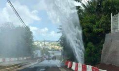 Odyssi inaugure un jet d'eau géant non loin de son siège en Martinique