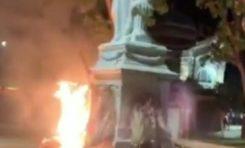 La statue de l'impératrice Joséphine incendiée à Fort-de-France en Martinique