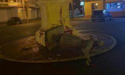 La statue de Victor Schoelcher déboulonnée à Cayenne en Guyane
