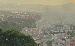 Incendie au centre-ville de Fort-de-France en Martinique