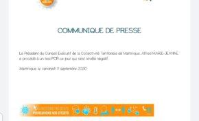 Covid-19 en Martinique : le président de tous les Martiniquais mieux armé que tous les Martiniquais pour lutter ruse contre le virus