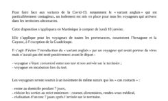 Covid-19 : nouvelles mesures pour la circulation des voyageurs en provenance et à destination de la Martinique