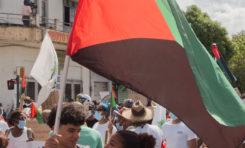 Rouge Vert Noir...leur drapeau...et le regard sans équivoque d'une jeunesse prise en flag