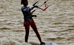 Kite-surf à la Pointe Faula au Vauclin en Martinique