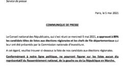 Communiqué de presse du Bureau Politique de LES RÉPUBLICAINS de Martinique