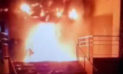 L'immeuble EDF incendié à Fort-de-France en Martinique