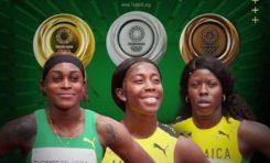 Tokyo 2020 : 100 m dames... la Jamaïque sur les trois marches du podium