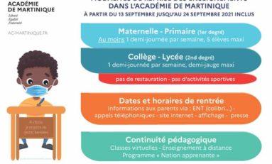 Rentrée scolaire 2021 en Martinique : les dispositions dans l'Académie